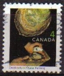 Sellos de America - Canadá -  CANADA 1999 Scott 1676 Sello Artesania Oficios Acuicultor Pescador Ostras Usado Michel 1766
