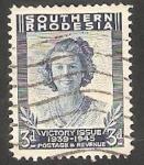 Stamps : Africa : Zimbabwe :  Princesa Elizabeth