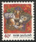 Sellos del Mundo : Oceania : Nueva_Zelanda : Jesus y animalitos