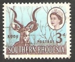 Stamps : Africa : Zimbabwe :  Antílope kudu