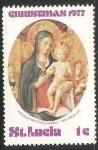 Sellos del Mundo : America : Santa_Lucía : Pintura Religiosa La Virgen y el niño