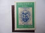 Stamps Colombia -  Escudo 1868-1968.