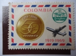 Stamps Colombia -  50 Años 1919-1969-Correo Aéreo