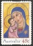 Sellos de Oceania - Australia -  Virgen con niño Jesus