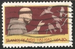 Stamps United States -  Francisco de Assis