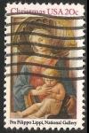 Sellos de America - Estados Unidos -  La Virgen y el Niño