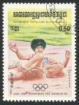 Sellos de Asia - Camboya -  Olimpiadas de los Angeles 84