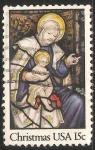 Stamps United States -  La Virgen y el Niño