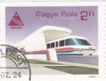 Sellos de Europa - Hungría -  Expo-85. tren