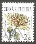 Stamps Czech Republic -  Crisantemo