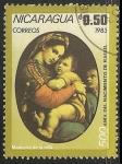 Sellos de America - Nicaragua -  Madonna de la silla