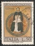 Sellos de Europa - Italia -  San Tomas de Aquino