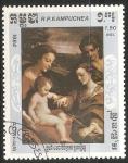 Stamps Cambodia -  Navidad