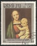 Sellos de Asia - Laos -  La Virgen y el Niño