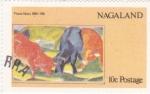 Sellos de Asia - Nagaland -  pintura de Franz Marc