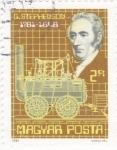 Sellos de Europa - Hungría -  máquina a vapor-G.Stephenson