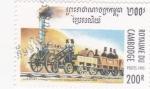 Stamps Cambodia -  máquina a vapor-