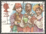 Stamps United Kingdom -  Reyes magos, niños