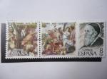 Sellos de Europa - España -  Eds:2466 y 2467 - Oleo: Fiesta de Dioniso en Andros y Autorretrato del Pintor Tiziano Vecellio (1477