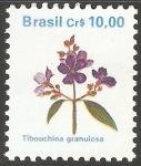 Sellos de America - Brasil -   tibouchina granulosa