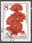 Sellos de Europa - Bulgaria -  Anemona coronaria