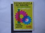 Sellos de America - Venezuela -  Venezuela en Marcha-Obras para el Desarrollo - Pequeña y Mediana Industria.