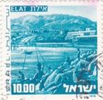 Sellos de Asia - Israel -  panorámica de Elat