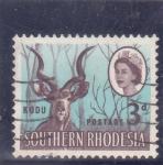 Stamps Zimbabwe -  Kudu- isabel II