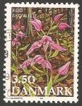 Sellos de Europa - Dinamarca -  Orquidea