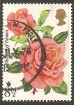 Stamps United Kingdom -  Rosas
