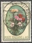 Sellos de Europa - Italia -   Claveles Dianthus