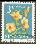 Sellos del Mundo : Oceania : Nueva_Zelanda : Puarangi (Hibiscus).