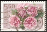 Stamps : Europe : Norway :  Pink rose