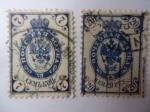 Stamps Russia -  Aguila Imperial - Período de la Guerra Civil de Rusia - Ejercito del Norte - Correo Terrestre (1889-