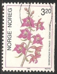 Sellos del Mundo : Europa : Noruega : Orquídea terrestre
