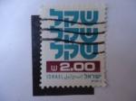 Sellos de Asia - Israel -  Símbolo  - Sheqel - Moneda-Cifra.