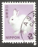 Stamps Japan -  Conejo