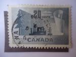 Sellos de America - Canadá -  Industria  del Papel - Transformación de la Madera