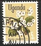 Sellos de Africa - Uganda -  Cordia africana