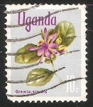 Sellos de Africa - Uganda -  Grewia similis