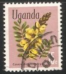 Stamps Uganda -  árboles candelabros