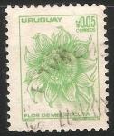 Sellos de America - Uruguay -  Flor del Mburucuyá