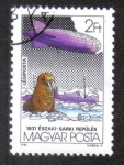 Stamps Hungary -  Zeppelin