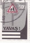 Stamps Turkey -  Despacio!! señal de tráfico