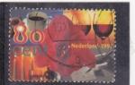 Sellos de Europa - Holanda -  copas de vino