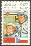 Stamps Laos -  Cosmonautas, Goubarev y Remek