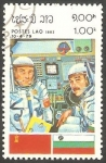 Sellos de Asia - Laos -  Cosmonautas