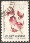 Stamps Argentina -  Ceibo (Erythrina crista galli