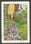 Stamps Australia -  Hardenbergia violacea