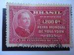 Stamps Brazil -  Feria Mundial de Nueva York 1939 - Presidente Grover Cleveland (1837-1908)